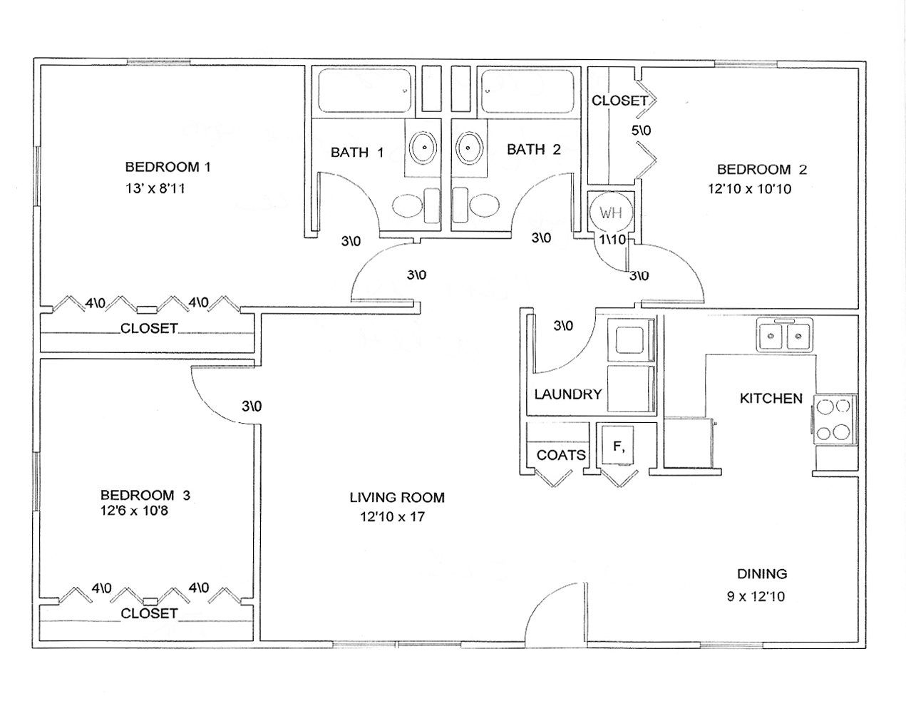 Floor Plan 3 Bedroom Joy Studio Design Gallery Best Design